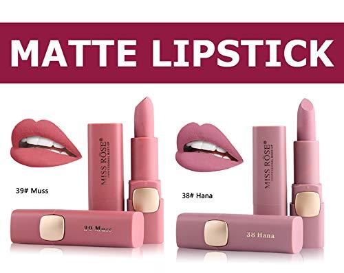 Miss Rose Cream Matte Long Lasting Waterproof Lipstick - Set Of 2