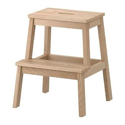 IKEA Tritthocker 'Bekväm' Tritt aus Massivholz mit Grifföffnung von Ikea - TapetenShop
