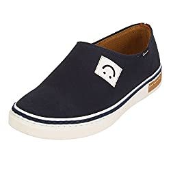 Quarks Mens Blue Slip On Smart Canvas Casual Shoes J1121BL-9