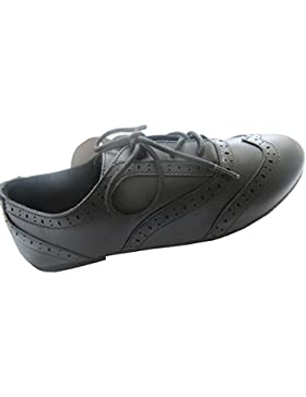 [Patrocinado]G2S - Zapatos de cordones de piel sintética para niña negro negro Niño 28 EU