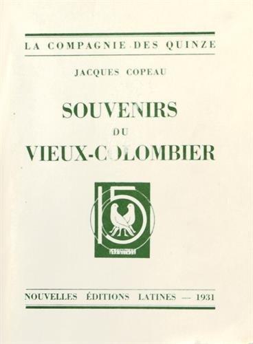 Souvenirs du Vieux Colombier