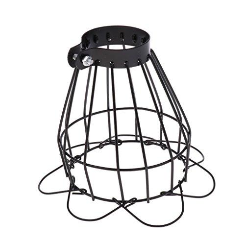SM SunniMix Vintage Käfig Lampenschirm für Reptilienlampe - Schwarz