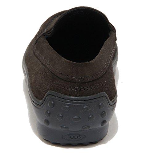 1643G mocassino nero TOD'S GOMMINI CASSETTA scarpa donna loafer shoes women Marrone