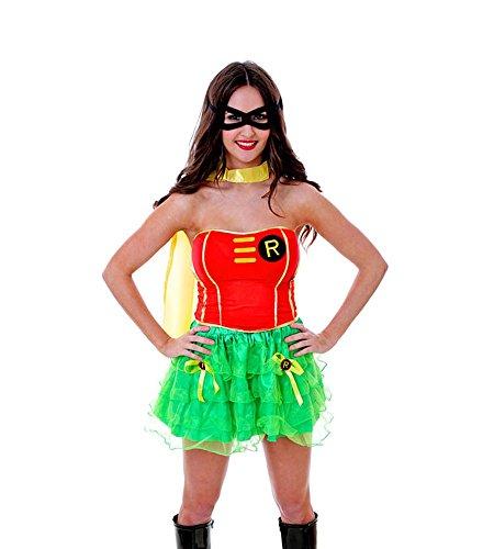 shoperama - Costume da donna Female Robin - Modello 2 - Superhero Super Hero