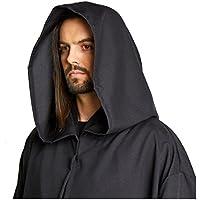 Hombres del Jedi Sith Robe capa disfraz adulto Marrón Negro
