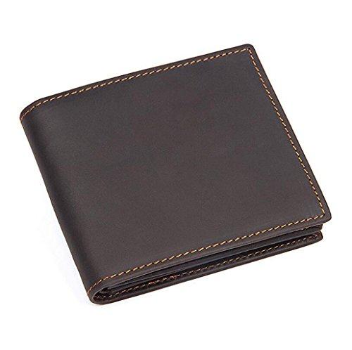 ZGJQ Männer Kurze Brieftasche Leder Brieftasche Casual Business Brieftasche Männer Geschenkbox (Farbe : Schwarz)