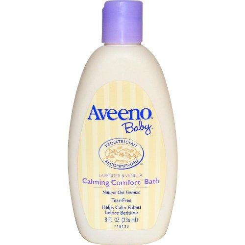 Aveeno, Baby, Beruhigende Komfort Bad, Lavendel & Vanille, 8 Flüssigunzen (236 ml) (Baby Cleanser)