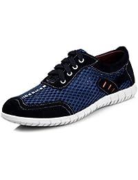 82377fbe9b222 LFEU Homme Chaussure Basket Sneakers Mode pour Voyage Jogging Chaussure de  Filet Respirant Pied Large Sport