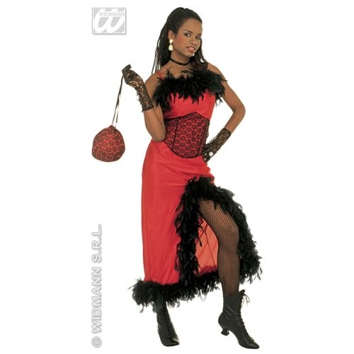 WIDMANN Damen Saloon Madame Kostüm S 36-38 für Moulin Rouge Wild West Kostüm (Damen Outfits West Wild Für)