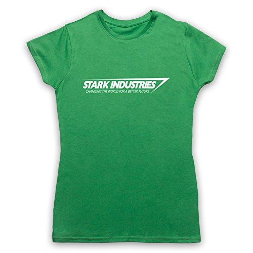 Inspiriert durch Iron Man Stark Industries Unofficial Damen T-Shirt Grun