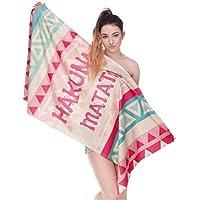 CHIYEEE Rectángulo Toalla de Playa Borla Playa Esteras de Yoga Bufanda Mantón Tapicería Mantel Picnic 140cm