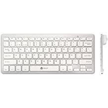 iClever® IC-BK01 - Teclado Inalámbrico (Bluetooth 3.0, iOS/Android/Windows) QWERTY Español - Blanco