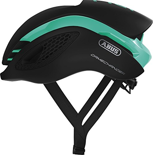 Abus Gamechanger Aero- Helm Fahrradhelm, Grün (celeste green), S (51-55 cm)