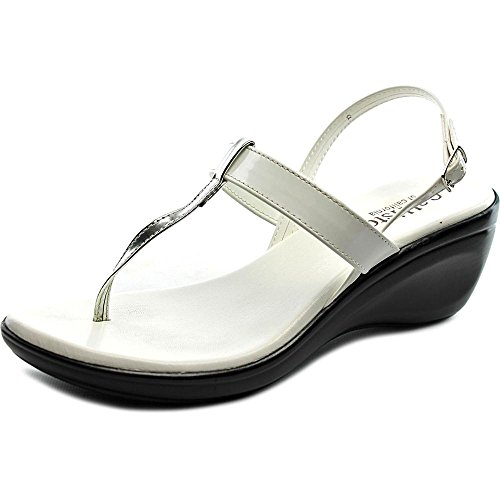 Callisto Stately Synthetik Keilabsätze Sandale White