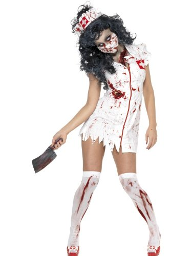Costume da infermiera zombie - in 3 pezzi - costume da donna per halloween o altre feste in maschera - s