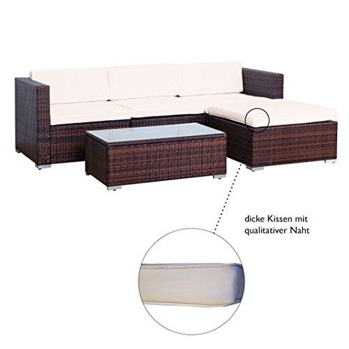Svita Gartenset L (2 Sitze, 1 Tisch, 1 Bank) aus Rattan – variable Anordnung - 4