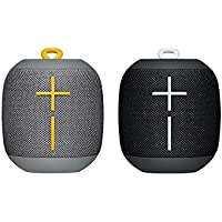 Ultimate Ears WONDERBOOM Altoparlante Wireless Bluetooth, Resistente agli Urti e Impermeabile con Connessione Doppia, Combo, Stone & Black