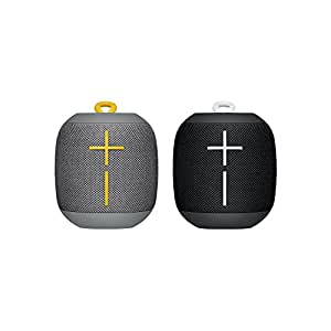 Ultimate Ears, WONDERBOOM Bluetooth Speaker, Waterproof Speaker with Double-Up Connection, 10-Hour Battery Life, Clear, Crisp, Elegant Bass, Immersive Sound, Black and Grey, Pack of 2