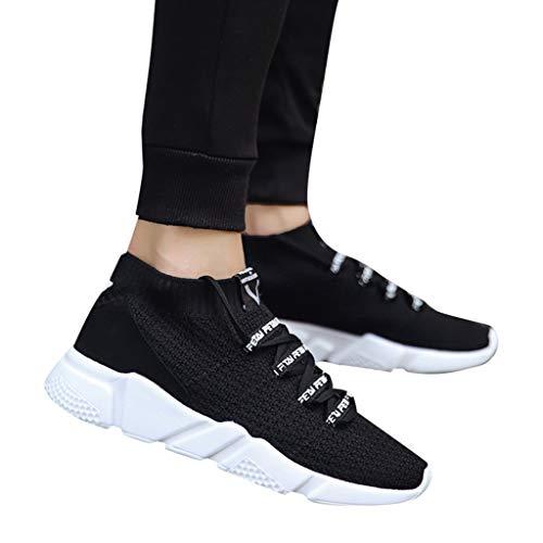 TianWlio Sportschuhe Herren Sneaker Outdoorschuhe Mens Mode Letter Elastic Running Sport Flache Knöchel Turnschuhe Runde Schuhe Schwarz grün blau grau 39-44