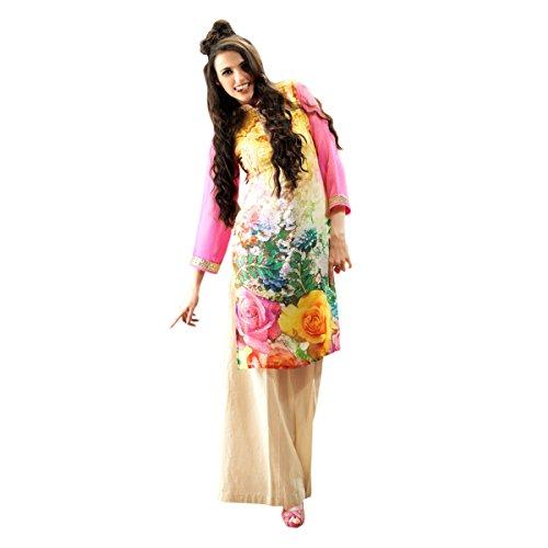 Aagaman-Fashions-Faux-Georgette-Kurti-ZTSAYSK1203Multi