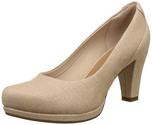 Clarks Chorus Chic, Women's Pumps, Beige (Nude Interest), 6 UK (39.5 EU)
