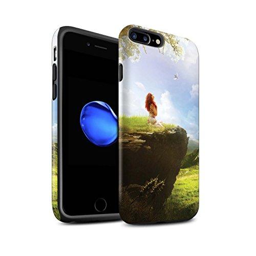Officiel Elena Dudina Coque / Matte Robuste Antichoc Etui pour Apple iPhone 8 Plus / Pack 17pcs Design / Fantaisie Paysage Collection Champ Vert