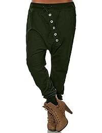 b39eb23354175 Pantalon Crayon Taille Haute Femme Mode Bureau Hipsters Harem Pantalon  Bloomers Baggy Hip Hop Pantalon pour