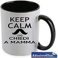 Tazza Personalizzata CHIEDI A MAMMA festa della mamma regali speciali regali divertenti Adesivo4You.com