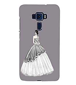 Fiobs Designer Phone Back Case Cover Asus Zenfone 3 Deluxe ZS570KL (5.7 Inches) ( Beautiful Young Lady )