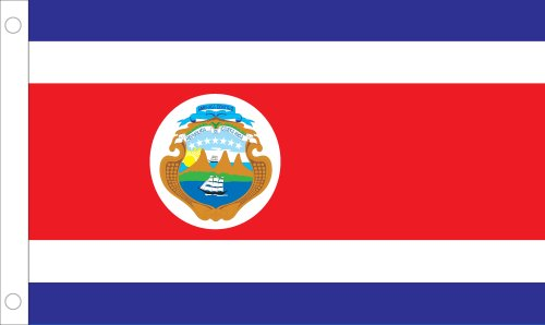 Allied Flagge Outdoor Nylon Costa Rica United Nation Flagge, 4 von druckknopfstiel