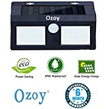 Ozoy Motion Sensor Waterproof 40 LED Solar Light Solar Powered LED Garden Light White Light Outdoor Emergency Wall Lamp (Waterproof and Weather Resistance)