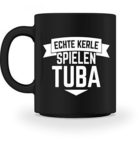 Tuba Echte Kerle T-Shirt Hobby Musikinstrument Blasinstrument Männer Jungs Shirt Lustige Sprüche Tuba Geschenk - Tasse