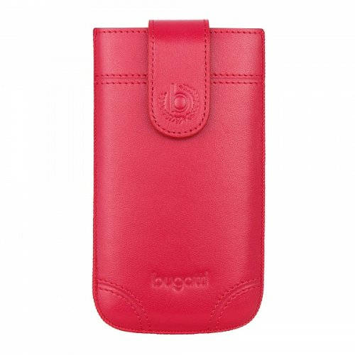 Bugatti London Étui en cuir véritable pour Samsung Galaxy SII/Apple iPhone Rouge