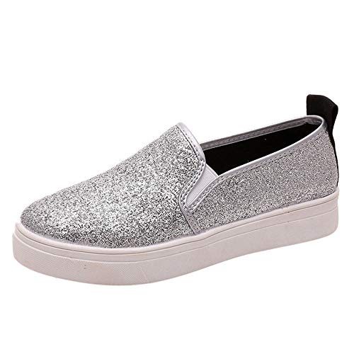 Yesmile Zapatos de mujer❤️Zapatos Zapatos Planos Ocasionales de la Primavera de Las Mujeres Zapatos Planos del holgazán de Las Lentejuelas