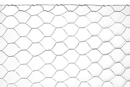 VERDELOOK Rete Metallica zincata Esagonale Esazinc 0,5x10 m con Maglia 50 mm, Diametro Filo 0.9 mm