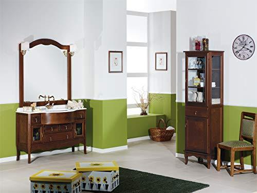Mobile arredo bagno classico in noce grandi sconti idraulico