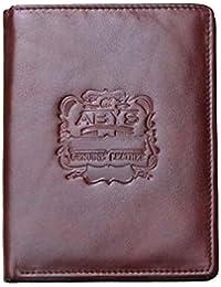 ABYS Genuine Leather Brown Unisex Passport Wallet||Money Clip||Passport Holder||Travel Wallet