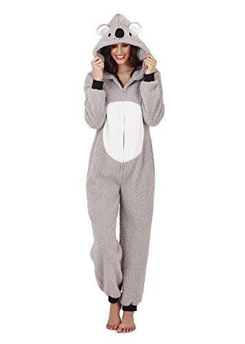Womens Onesie Loungeable Ladies Pyjamas 3D Ears All In One Sleepsuit - 41cuiUlIdeL - Womens Onesie Loungeable Ladies Pyjamas 3D Ears All In One Sleepsuit
