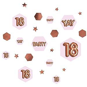 Neviti 773406Glitz y Glamour edad 18Confetti mesa Scatters, Rosa/Oro rosa
