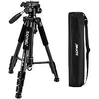 ZOMEi Z666 Trépied Portatif et Léger avec Etui de Transport pour Appareil Photo Reflex Numérique DSLR Nikon Canon Sony Digital SLR ou Camera Vidéo Hauteur Max 140cm