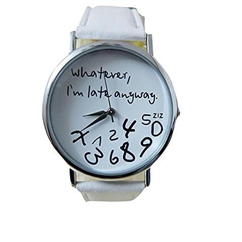 Longra Heiße Frauen Leder Uhr
