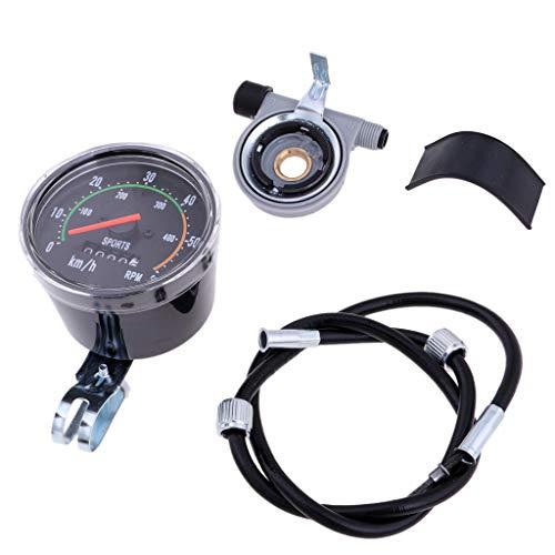 B Baosity Fahrrad Wegmesser Stoppuhr Radfahren Tachometer Uhr im Retro Look, Wasserdicht und Stoßfest