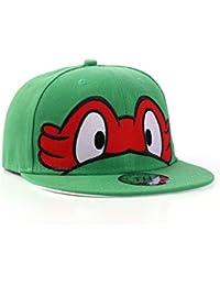 Les Tortues Ninja–Plat Peak Casquette Snapback réglable casquette de baseball, rouge, Ajustable
