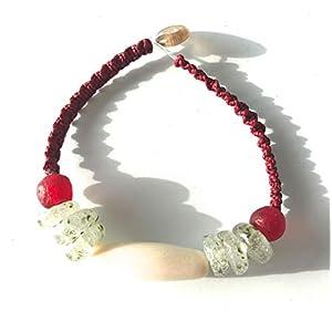 Ethnos Barcelona - Horn Armband und Kristall perlen Afrika.