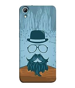 PrintVisa Designer Back Case Cover for HTC Desire 830 :: HTC Desire 830 Dual Sim (Love Lovely Attitude Men Man Manly)
