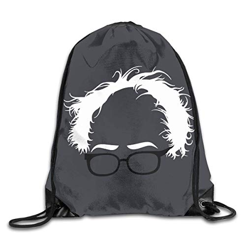 GHMJVHFG Bernie Sanders Hair Drawstring Shoulder Bag Bundle Pocket Fitness Sport Bag (Rosa Kd 7)