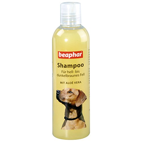 Beaphar Dog Shampoo for brown fur | for Shining Coat | with Aloe Vera Dog Shampoo Ph Neutral Dog Shampoo for Yorkies, Slip and Others 250ml