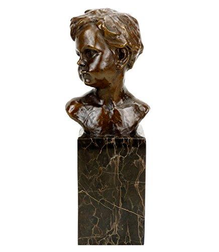 Kunst & Ambiente - Jugendstilfigur aus Bronze - Knabenbüste - signiert Auguste Moreau - Jugendstil Bronzefiguren online kaufen - Jugendstil Skulptur -