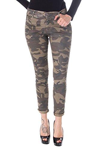 Please Damen Jeans Slim Fit Schlank P80 l Camouflage