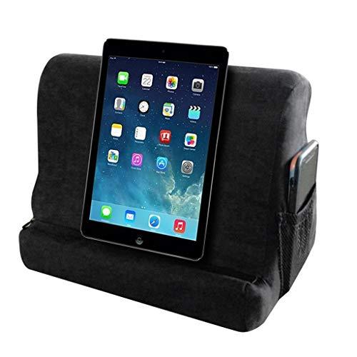 Tablet-Kissen ideal passend zu Samsung Tab, Apple iPad, Lenovo, Huawei Mediapad - Tablet Halterung eReader Halter für Bett & Couch Soft Pillow Lap Ständer (Schwarz) -